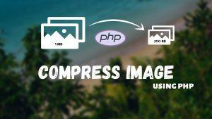 Compress Image using PHP